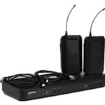 Shure BLX188/CVL Dual Channel Lavalier Wireless System with (2) CVL Lavalier