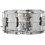 "Ludwig LM402K LUDWIG 6.5"" X 14"" SUPRAPHONIC HAMMERED ALUMINUM SNARE DRUM