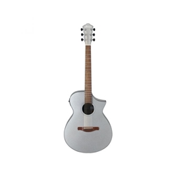 AEWC10SM Ibanez AEWC10 Acoustic-Electric Guitar - Silver High Gloss